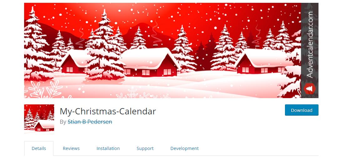 My Christmas Calendar WordPress Plugin
