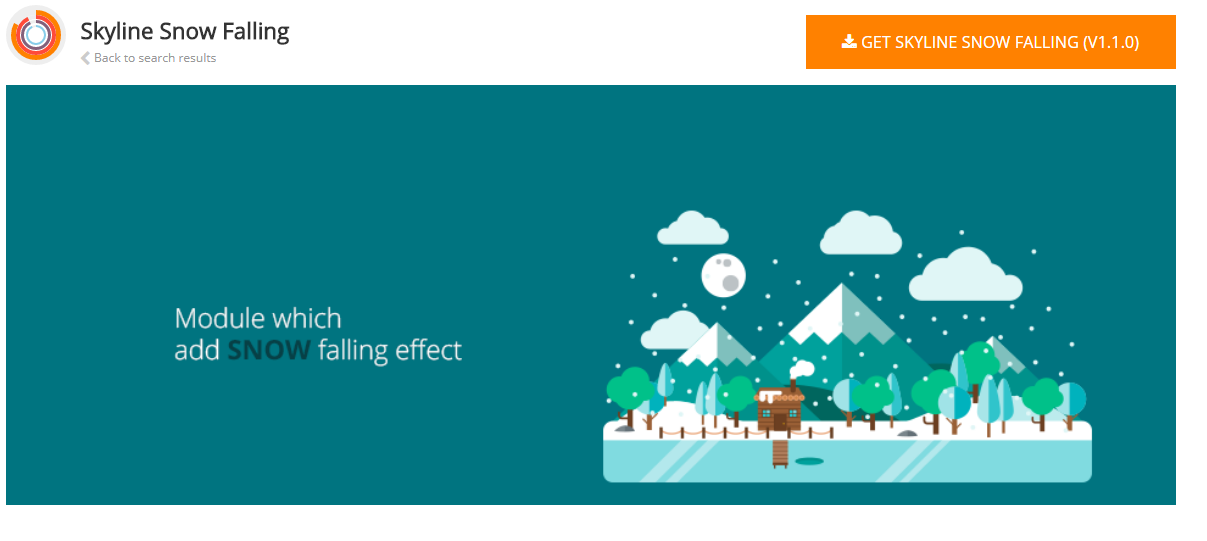 Snowfalling Joomla Christmas Extension