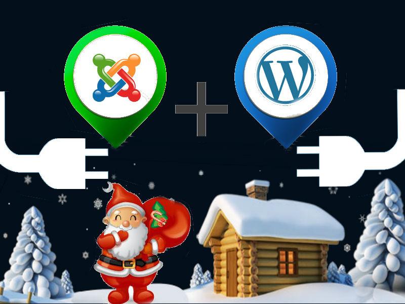 Top 10 Free WordPress and Joomla Christmas plugins