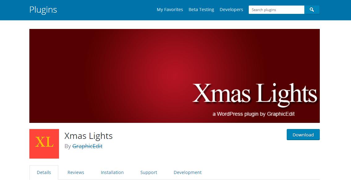 xmas lights christmas WordPress Plugin