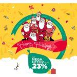 GRAB MEGA DISCOUNT PLUS 5% CASHBACK ON FESTIVITY OF NEW YEAR & X-MAS