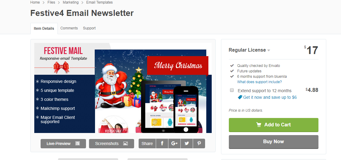 Festive4 - Christmas Email Template
