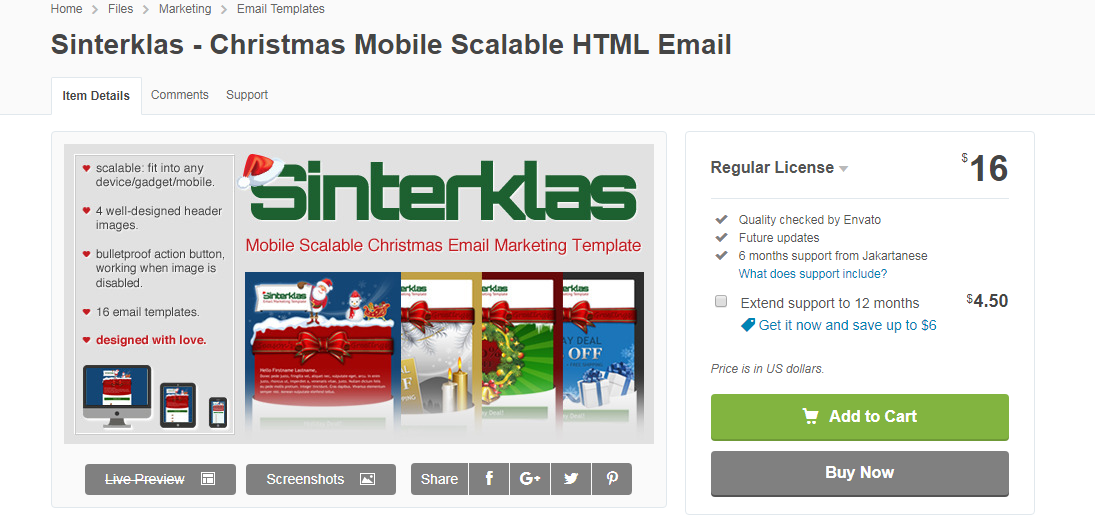 Sinterklas - Christmas Email Template