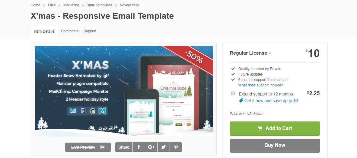 X'mas- Responsive Email Template