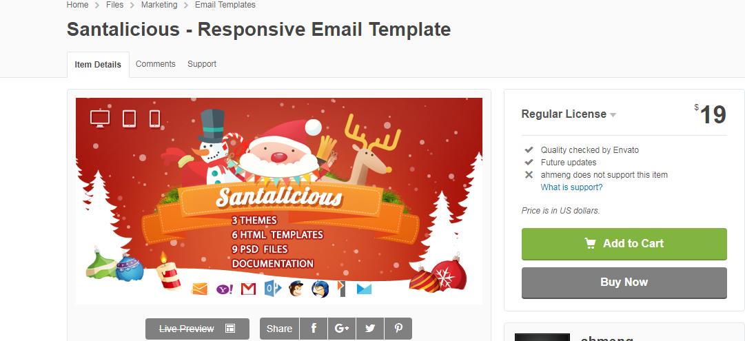 santalicious-responsive Christmas email template